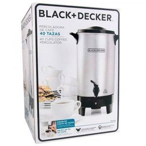 Cafetera Black and Decker, Capacidad 40 tazas, Comercial Los Angeles