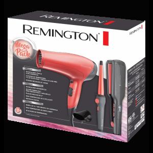 Mega Pack Remington: Plancha + Tenaza + Secadora