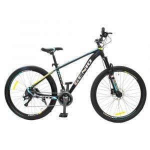 """Bicicleta de Montaña Color Amarillo/Celeste 27.5""""."""