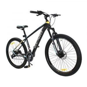 """Bicicleta de Montaña Color Celeste/Amarillo 27.5""""."""